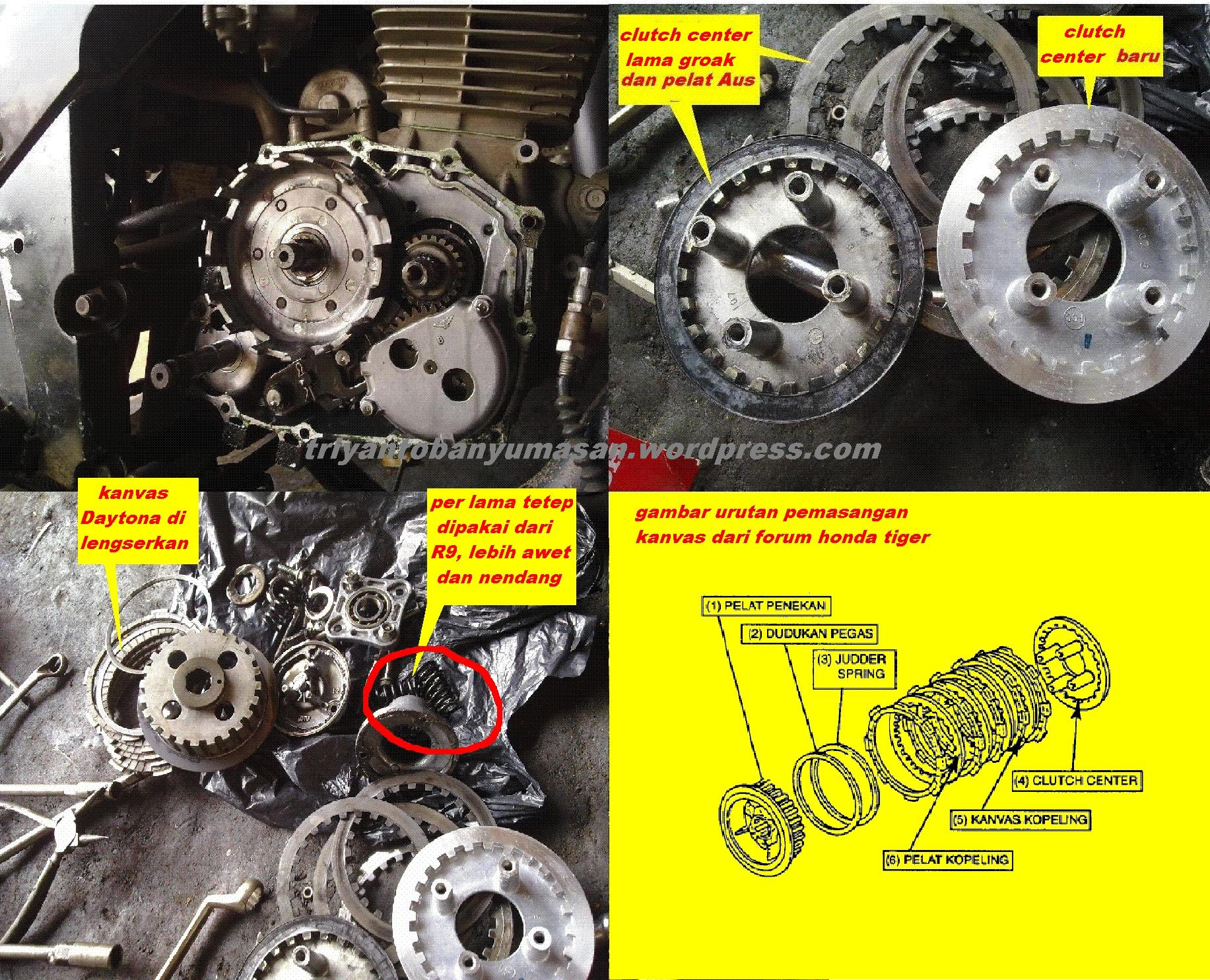 Perbedaan Jeroan Honda Tiger Revo Dan Lama Triyanto Plat Kopling Besi Gl Grand Cb Mega Pro Original Silahkan Cermati Seksama