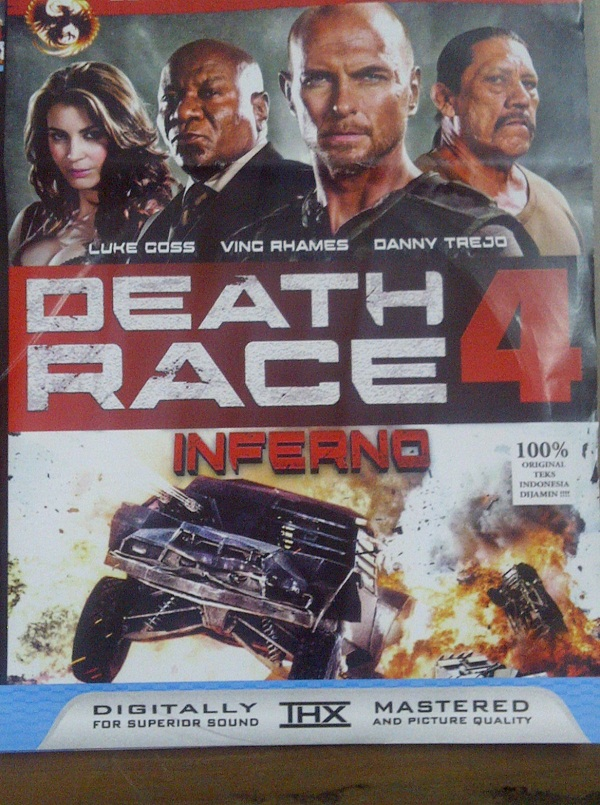 sampul Death Race 4, isinya Death Race 3