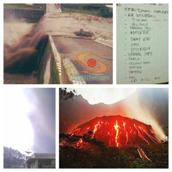 kondisi erupsi gunung kelud