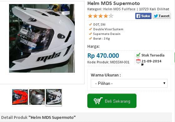 harga helm MDS Supermoto
