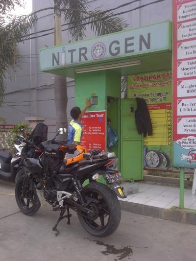 Isi ban pakai nitrogen