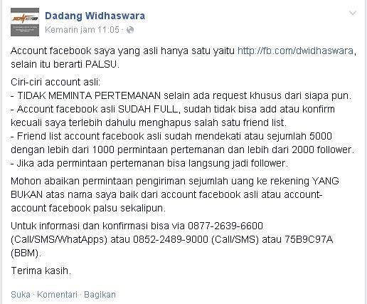 Konfirmasi Kang Dadang W