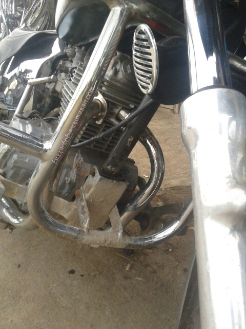 modifikasi head honda tiger dual exhaust