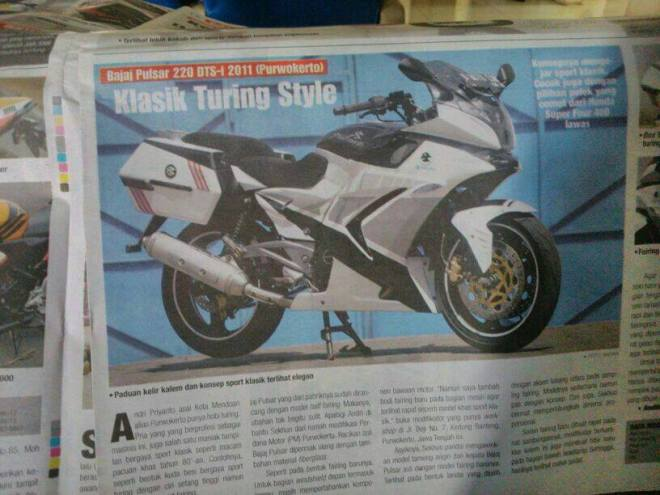 nampang di majalah motor