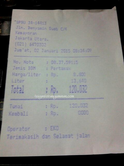 full BBM Pertamak dengan harga per liternya 8800 rupiah