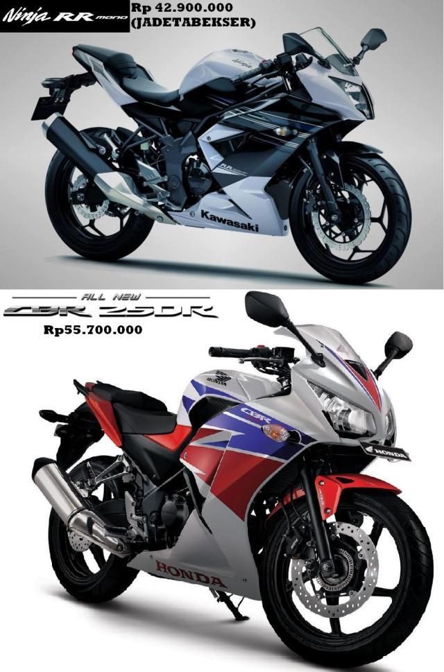 ninja rr mono versus cbr 250 r