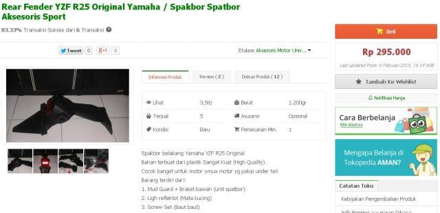 harga spakbor gantung yamaha r25