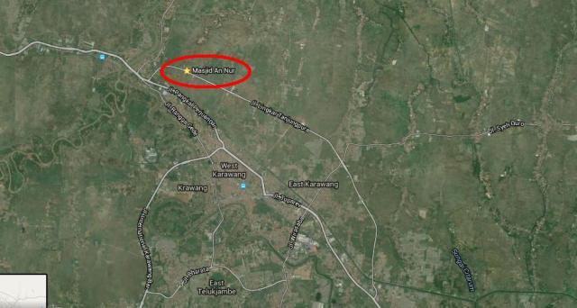 peta posisi masjid An-Nur Aliando Syarief