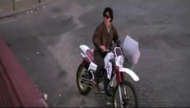 Jackie Chan's Motorcycle chase scene with baby