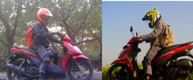 Snail Supermoto Orange (kiri) dan MDS Super pro Kuning (kanan)