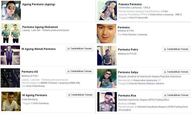 Semua adalah akun polisi gadungan, uniknya ada yg pakai foto Pa Vandi dan Pa Martin Wong