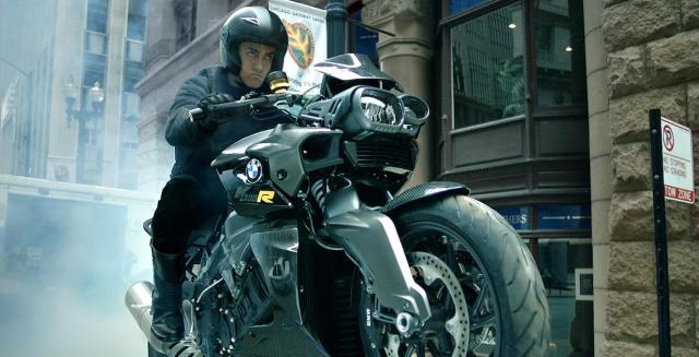 Amir Khan on K 1300 R in dhoom:3