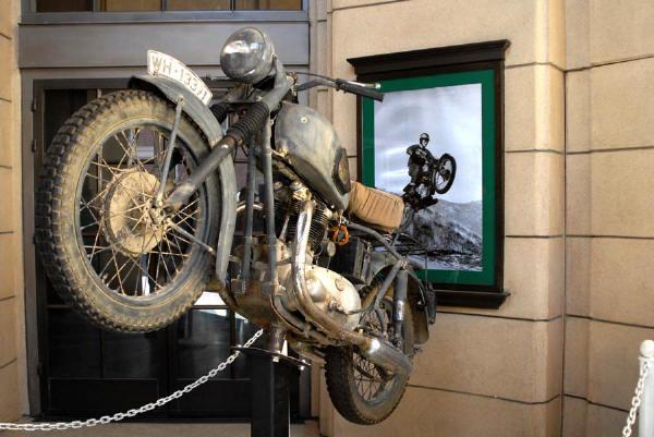 Bud Ekins Bike museum the jump and the fince