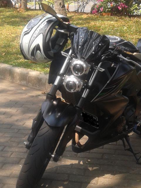 modifikasi headlamp kawasaki ninja z250
