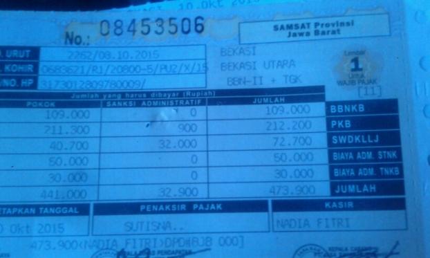 Cara Balik Nama Sepeda Motor Second Satu Wilayah Triyanto