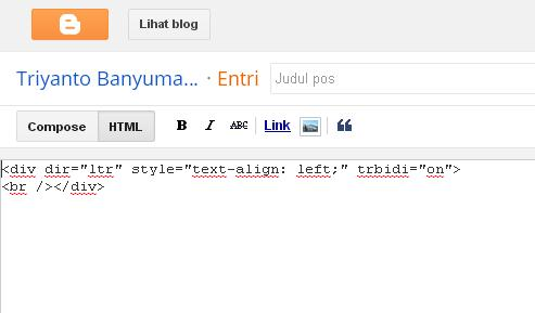 bikin postingan di blogspot mode html