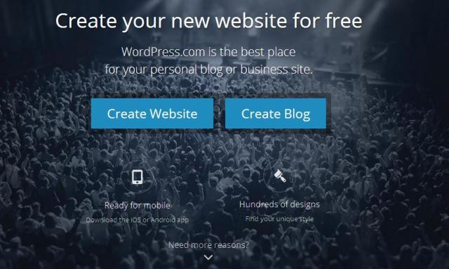 halaman muka wordpress