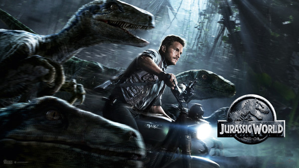 Chris Pratt On Triumph Scrambler in Jurassic World