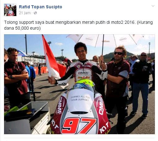 Butuh dana 50 euro untuk masuk moto2, benarkah?